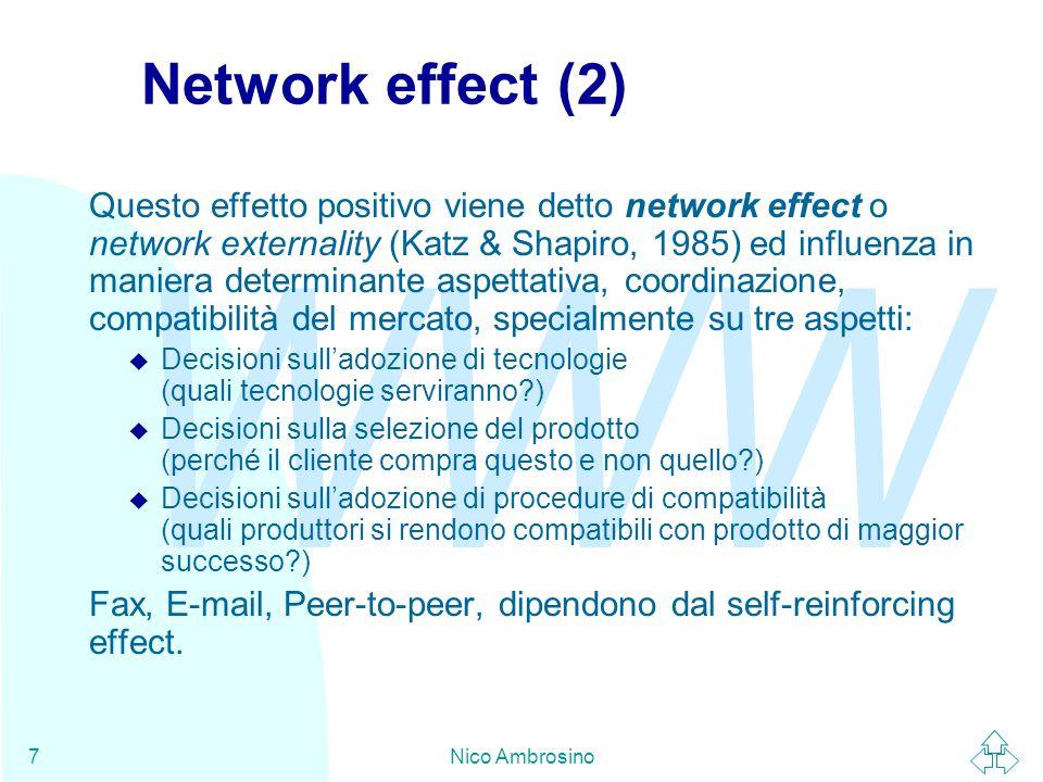 WWW Nico Ambrosino18 ISO - Organizzazione n L'ISO è un'organizzazione di organismi di Standard.