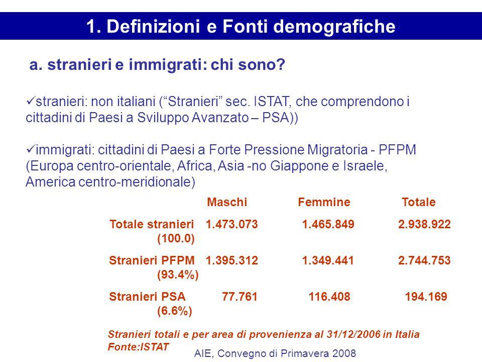 a. stranieri e immigrati: chi sono. stranieri: non italiani ( Stranieri sec.