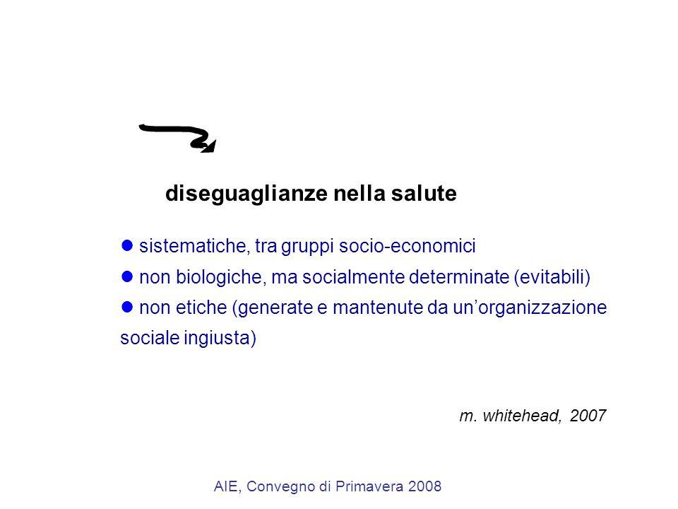 sistematiche, tra gruppi socio-economici non biologiche, ma socialmente determinate (evitabili) non etiche (generate e mantenute da un'organizzazione sociale ingiusta) m.
