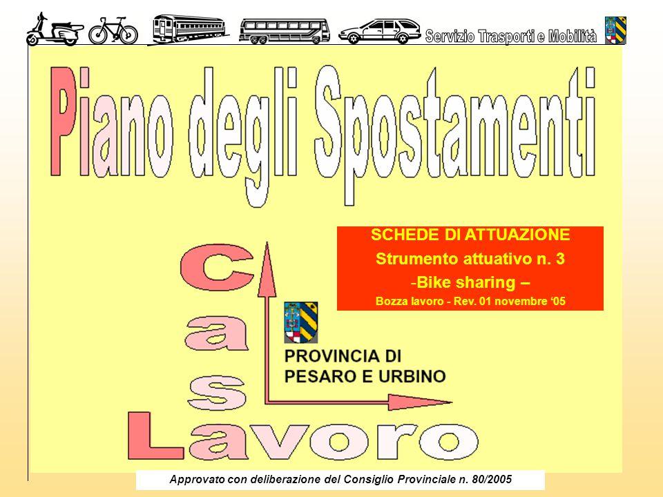 Piano Spostamenti Casa Lavoro 2005 - Bike sharing - 1 SCHEDE DI ATTUAZIONE Strumento attuativo n.