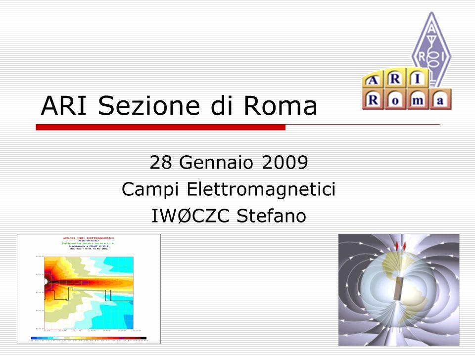 ARI Sezione di Roma 28 Gennaio 2009 Campi Elettromagnetici IWØCZC Stefano