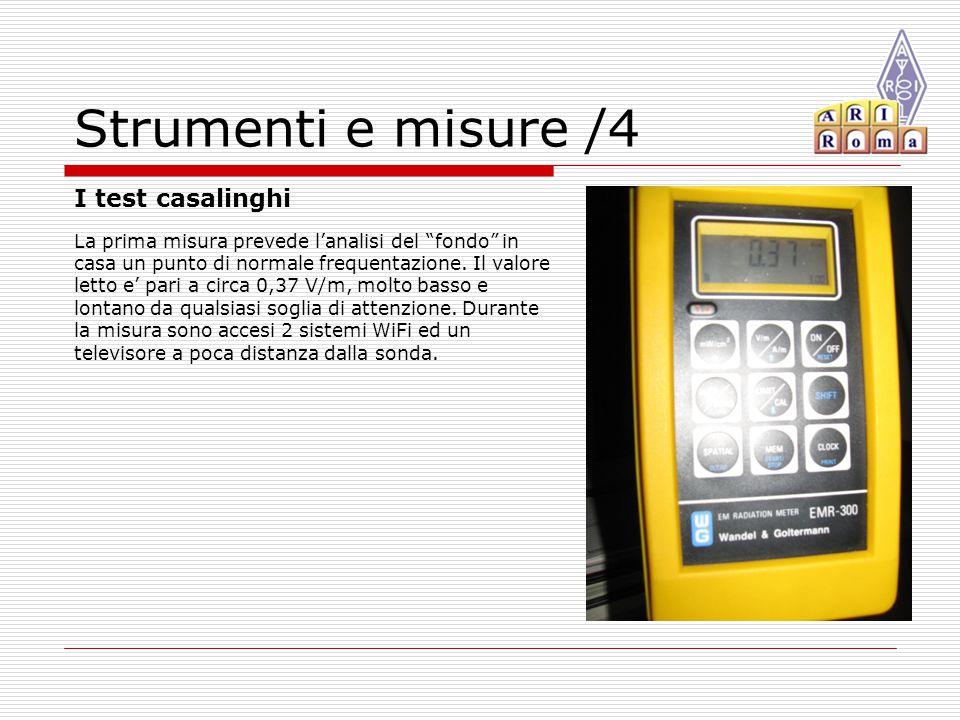 Strumenti e misure /4 I test casalinghi La prima misura prevede l'analisi del fondo in casa un punto di normale frequentazione.