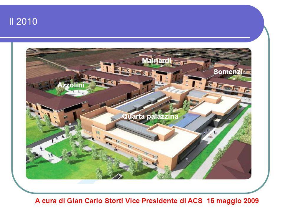 Il 2010 A cura di Gian Carlo Storti Vice Presidente di ACS 15 maggio 2009 Mainardi Somenzi Azzolini Quarta palazzina