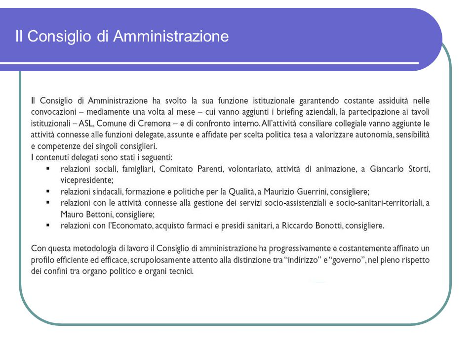 Struttura Azienda Cremona Solidale