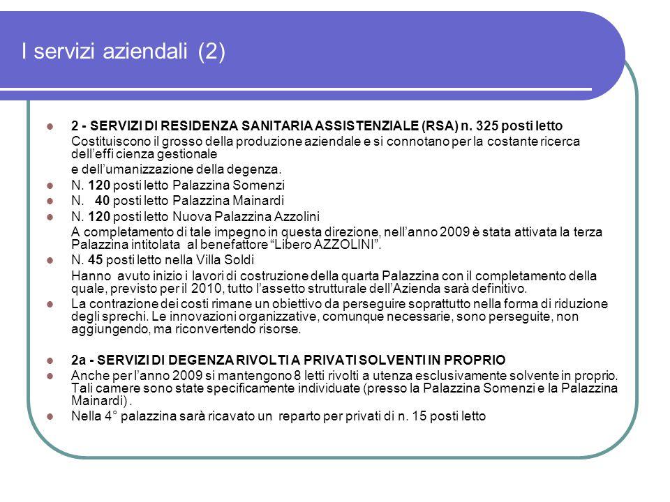 Andamento ricavi riabilitazione Il servizio è gratuito per l'ospite in quanto a carico del SSN
