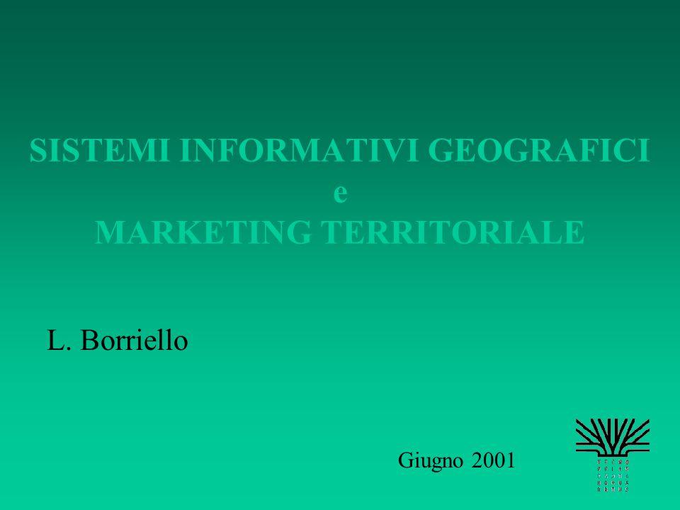 SISTEMI INFORMATIVI GEOGRAFICI e MARKETING TERRITORIALE L. Borriello Giugno 2001