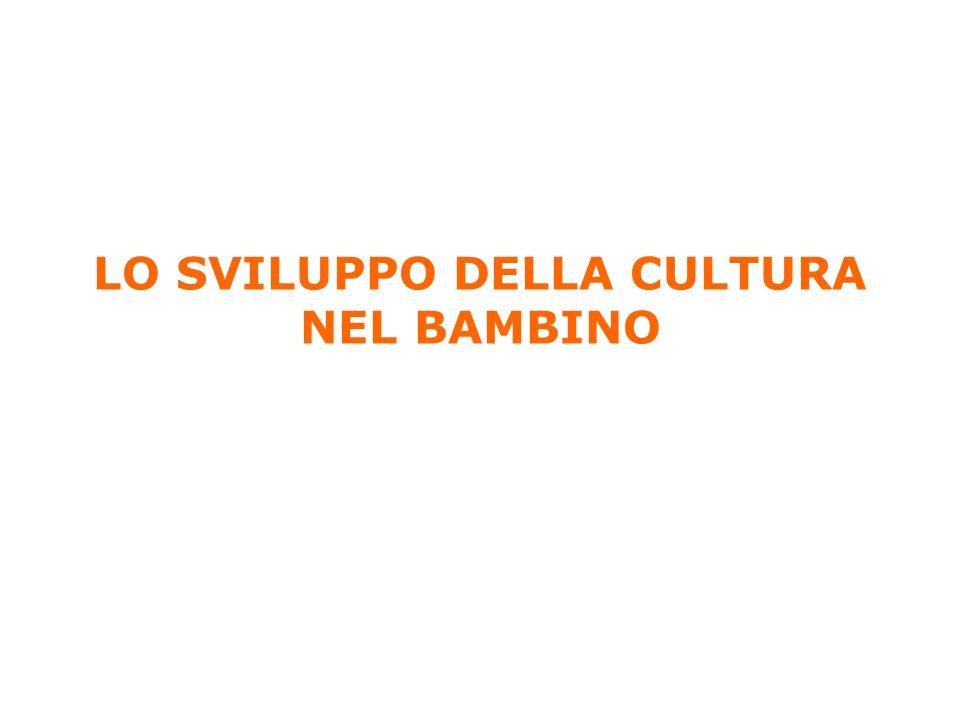 1 LO SVILUPPO DELLA CULTURA NEL BAMBINO Anolli, Psicologia della cultura, Il Mulino, 2004 Capitolo 4.