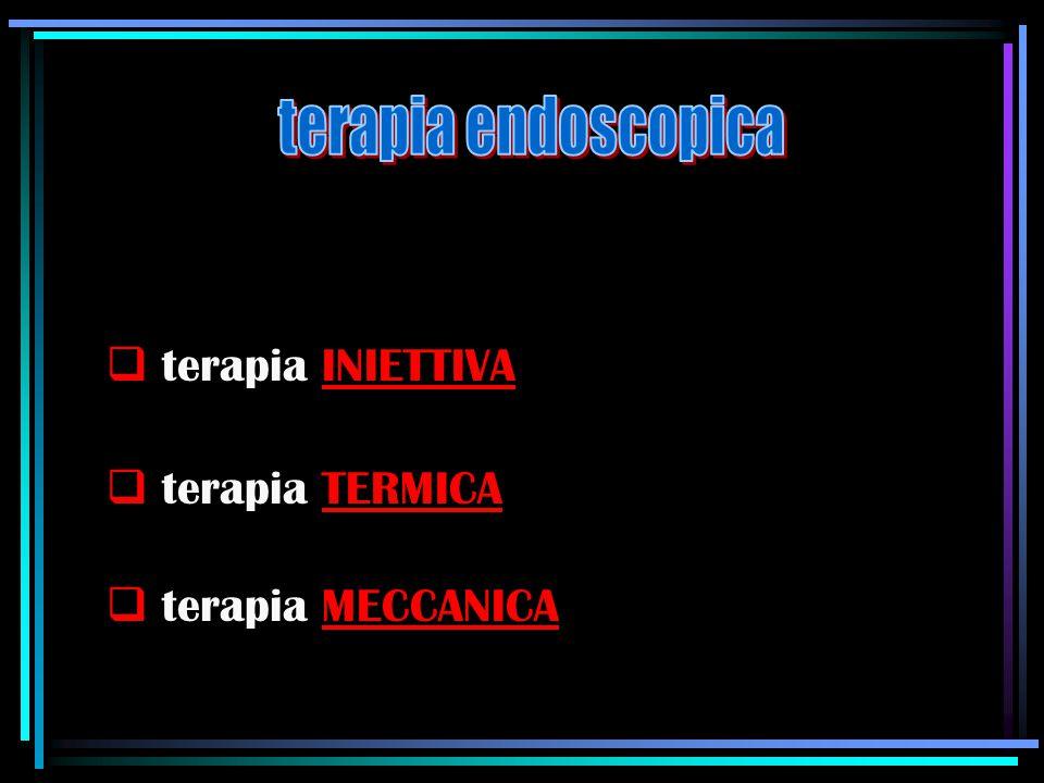  terapia INIETTIVA  terapia TERMICA  terapia MECCANICA