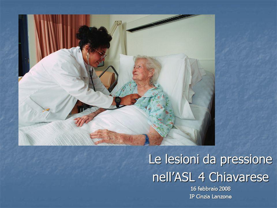 Gruppo di lavoro 2004: obiettivi Revisione e aggiornamento del protocollo di prevenzione Revisione e aggiornamento del protocollo di prevenzione e trattamento delle lesioni con strutturazione e sperimentazione di schede da inserire nella documentazione infermieristica.