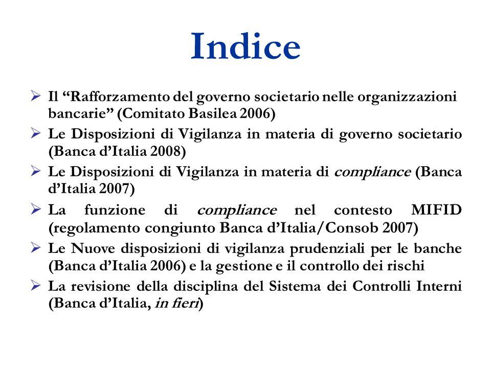 A - Disposizioni in materia di sistema dei controlli interni Il T.U.B.
