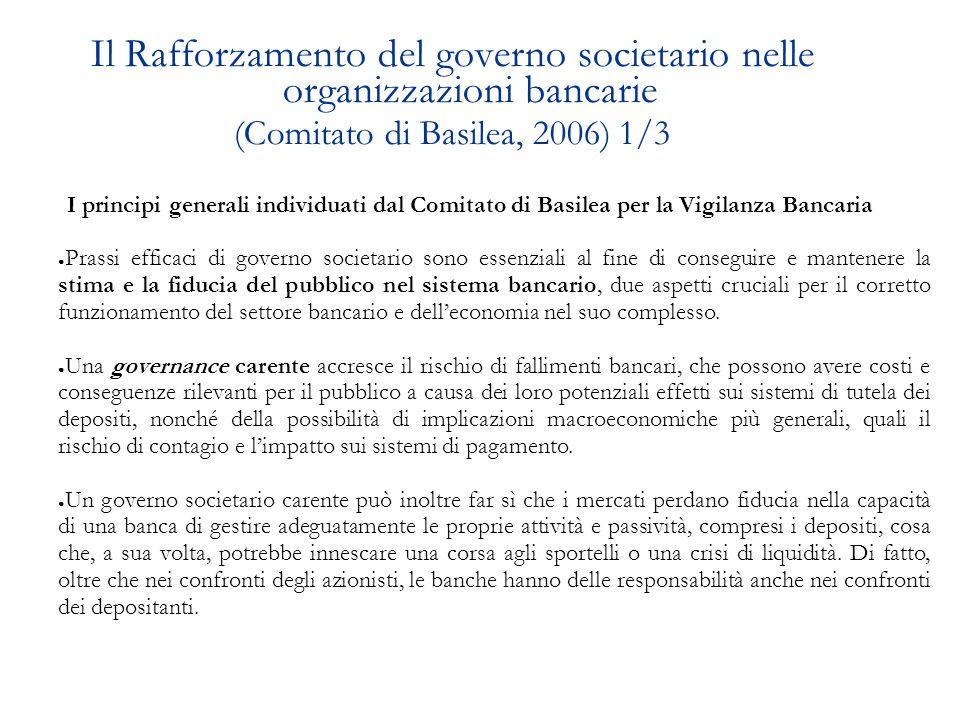 Disposizioni in materia di sistema dei controlli interni Tipologie dei CONTROLLI previsti dalla Banca d'Italia (Circolare della Banca d Italia n.