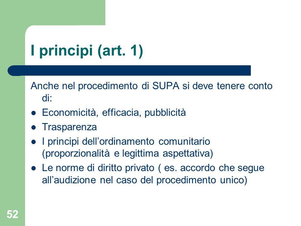 52 I principi (art.