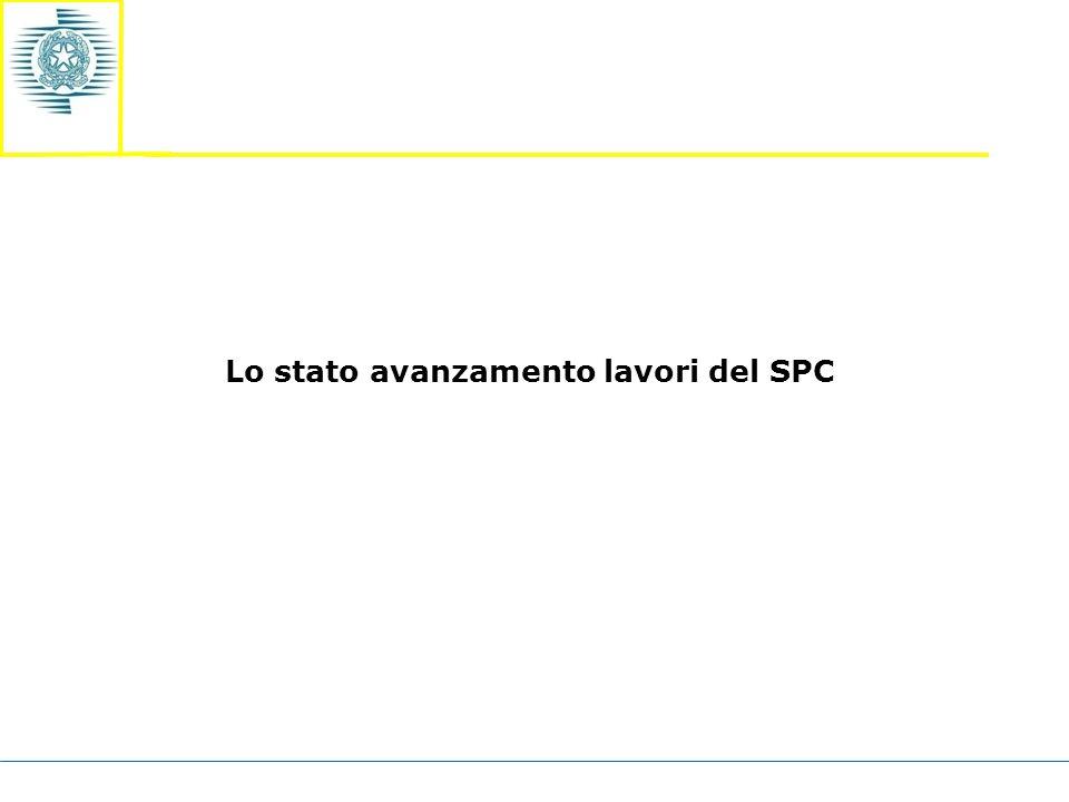 Lo stato avanzamento lavori del SPC