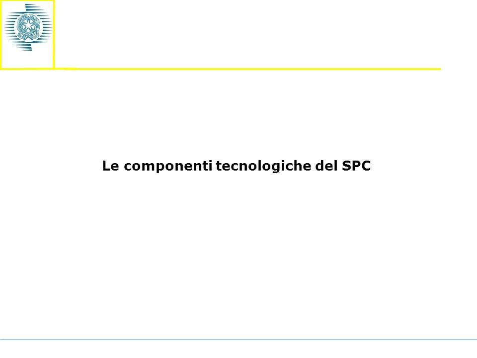 Le componenti tecnologiche del SPC