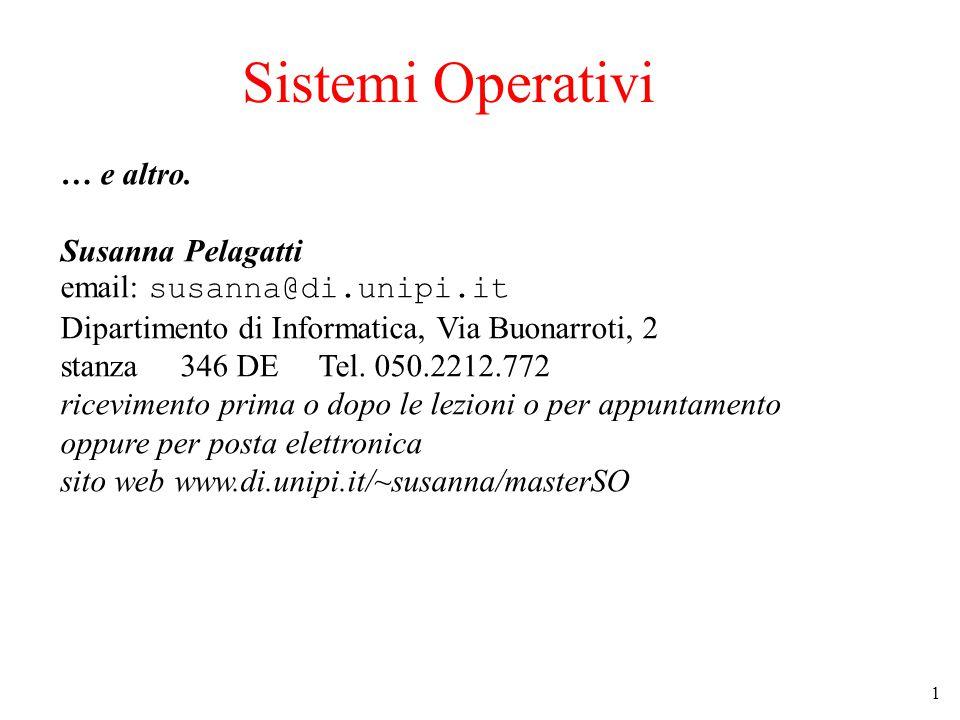 1 Sistemi Operativi … e altro.