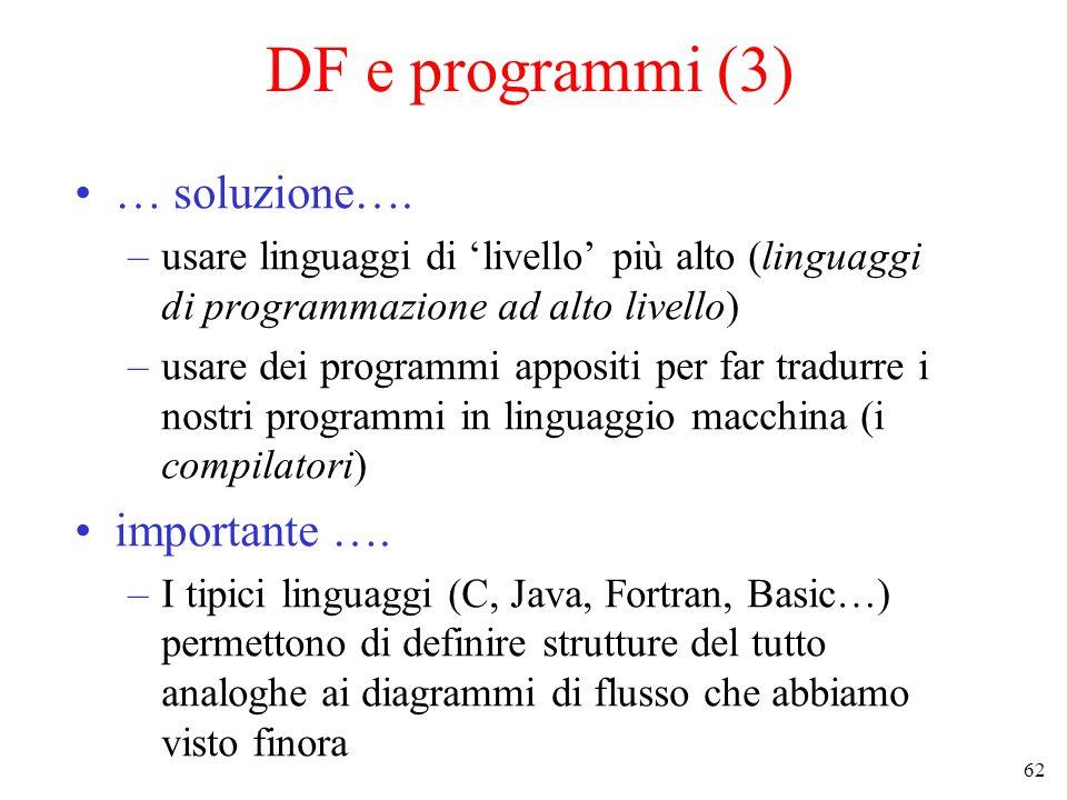 62 DF e programmi (3) … soluzione….