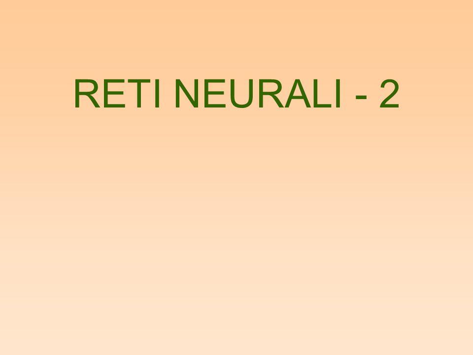 RETI NEURALI - 2
