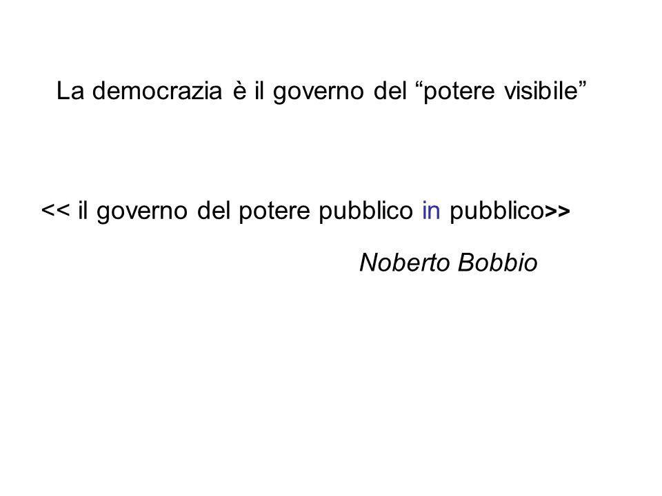 """La democrazia è il governo del """"potere visibile"""" > Noberto Bobbio"""