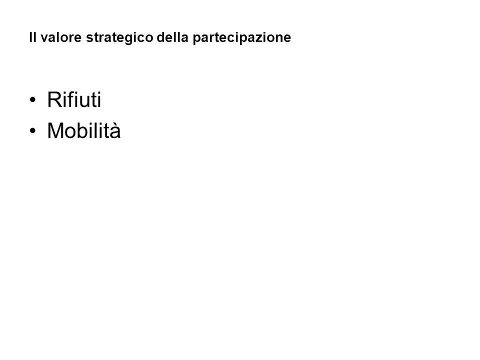 Il valore strategico della partecipazione Rifiuti Mobilità