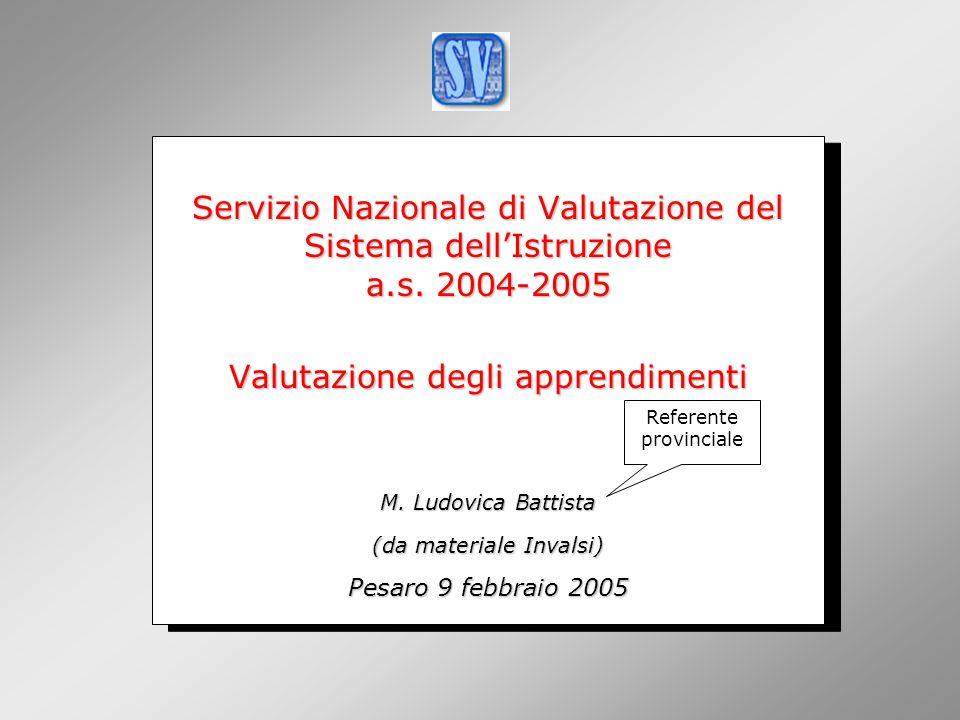 INValSI Servizio Nazionale di Valutazione del Sistema dell'Istruzione a.s.