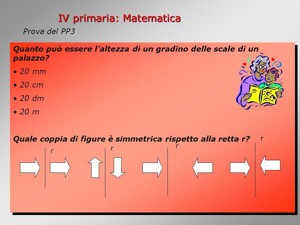 IV primaria: Matematica Quanto può essere l'altezza di un gradino delle scale di un palazzo.