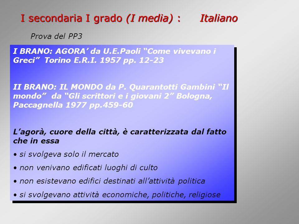 I BRANO: AGORA' da U.E.Paoli Come vivevano i Greci Torino E.R.I.