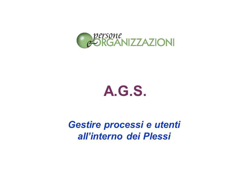 A.G.S. Gestire processi e utenti all'interno dei Plessi