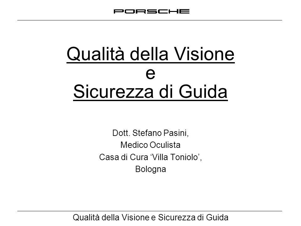 Qualità della Visione e Sicurezza di Guida Dott. Stefano Pasini, Medico Oculista Casa di Cura 'Villa Toniolo', Bologna