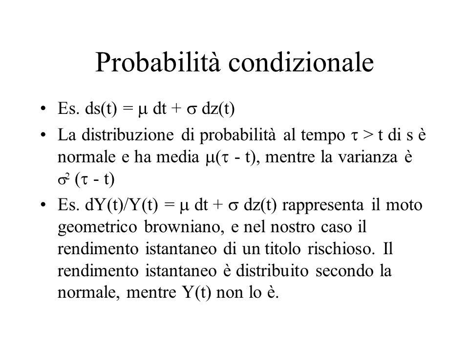 Probabilità condizionale Es.