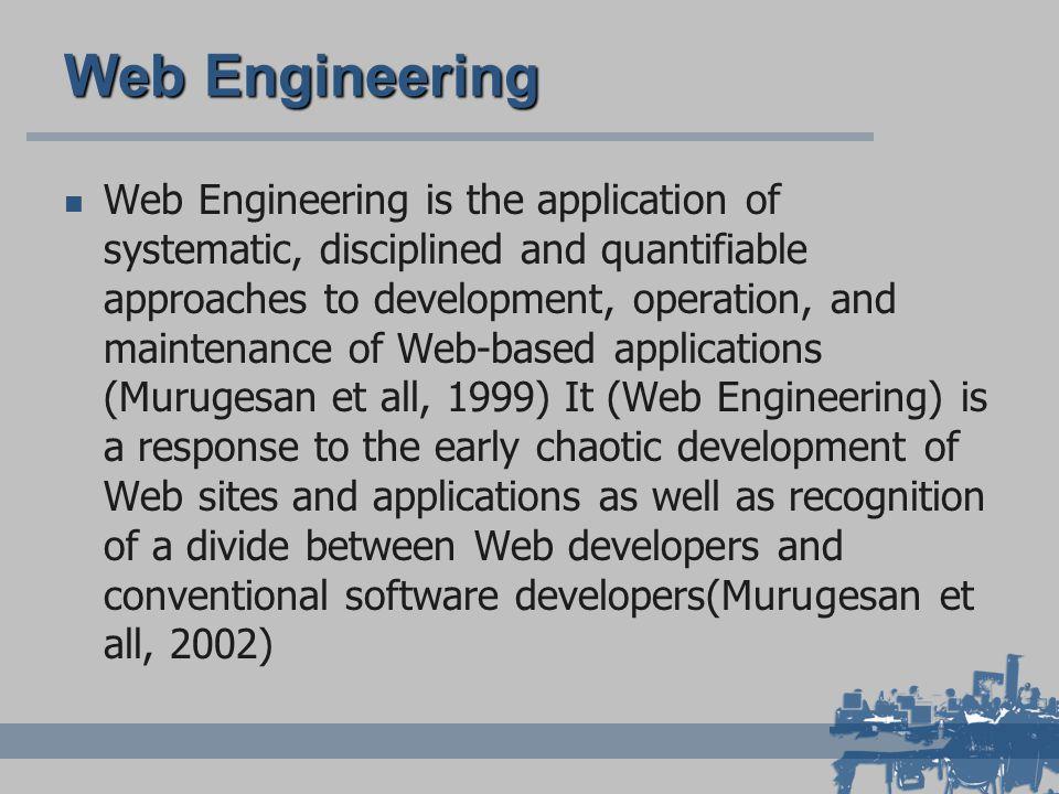 Web Engineering - Multisciplinarietà