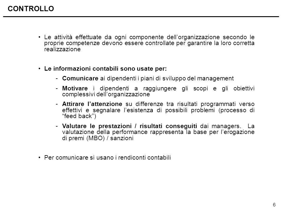 6 Le attività effettuate da ogni componente dell'organizzazione secondo le proprie competenze devono essere controllate per garantire la loro corretta