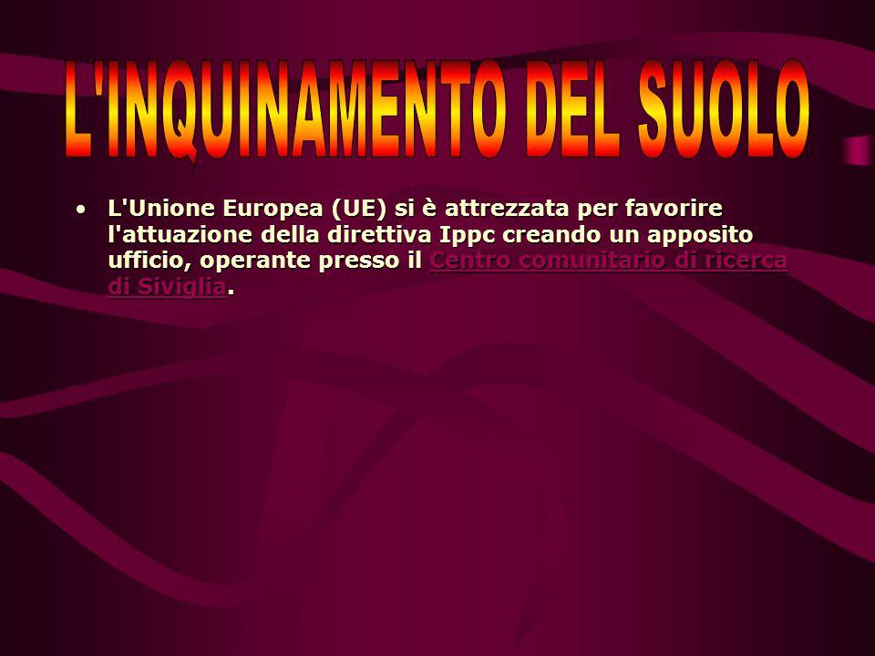 L Unione Europea (UE) si è attrezzata per favorire l attuazione della direttiva Ippc creando un apposito ufficio, operante presso il Centro comunitario di ricerca di Siviglia.L Unione Europea (UE) si è attrezzata per favorire l attuazione della direttiva Ippc creando un apposito ufficio, operante presso il Centro comunitario di ricerca di Siviglia.Centro comunitario di ricerca di SivigliaCentro comunitario di ricerca di Siviglia