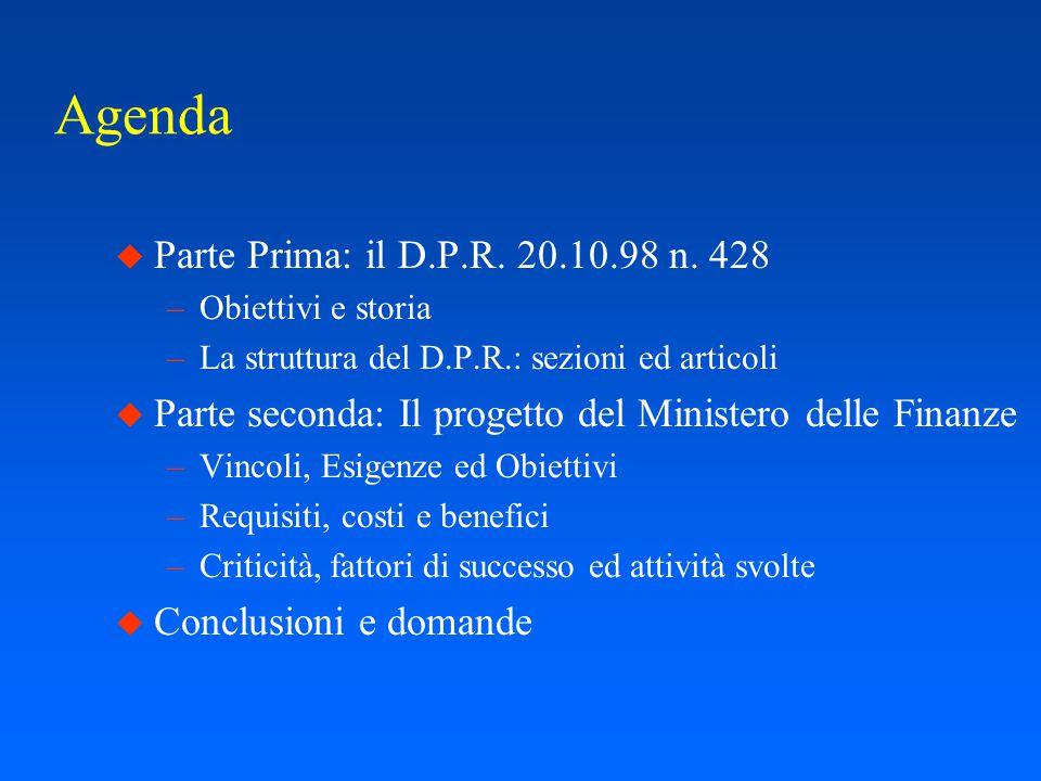 Progetto per lo sviluppo di un sistema informativo per la gestione del protocollo e dei flussi documentali (D.P.R.