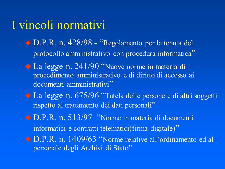 - Parte Seconda - Il progetto del Ministero delle Finanze
