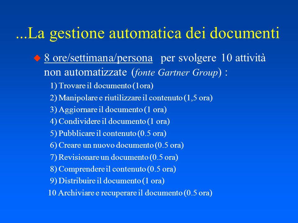 La gestione automatica dei documenti...