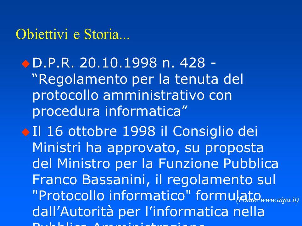 - Parte Prima - Il D.P.R. 20.10.98 n. 428
