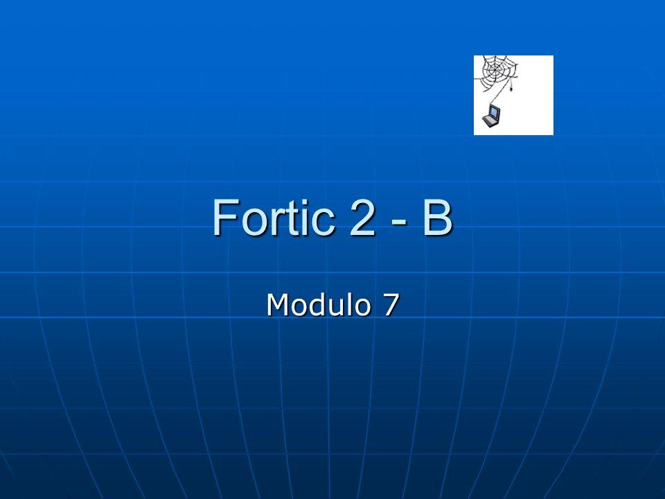 Fortic 2 - B Modulo 7