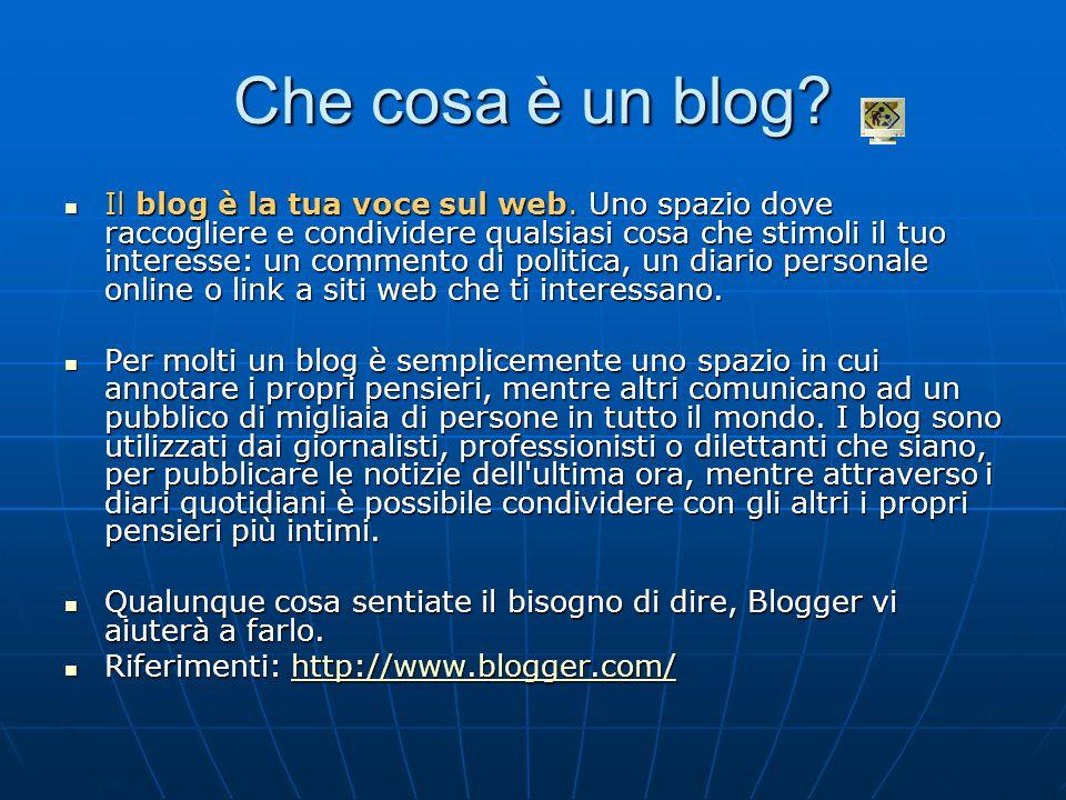 Che cosa è un blog. Il blog è la tua voce sul web.