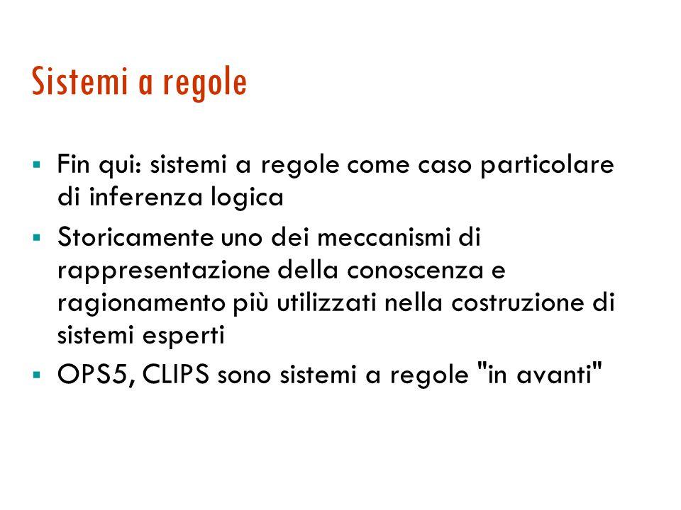 Sistemi a regole [di produzione] Maria Simi a.a. 2008/2009