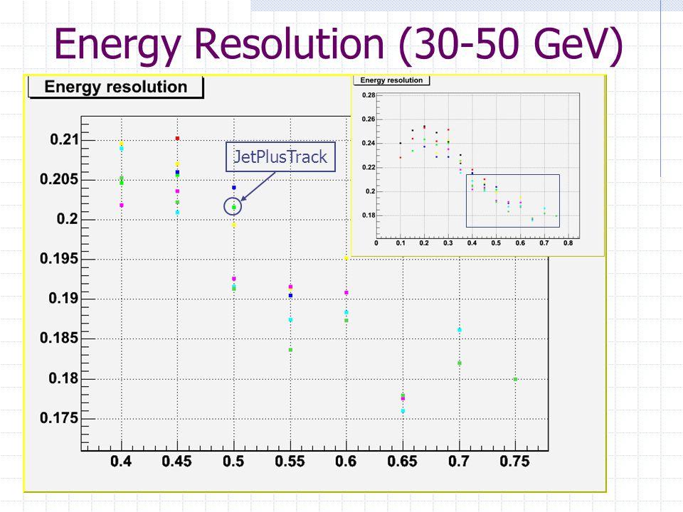 Energy Resolution (30-50 GeV) JetPlusTrack