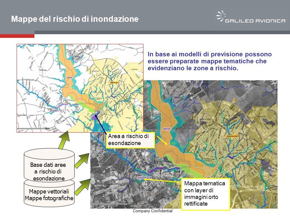 14 Company Confidential Mappe del rischio di inondazione In base ai modelli di previsione possono essere preparate mappe tematiche che evidenziano le