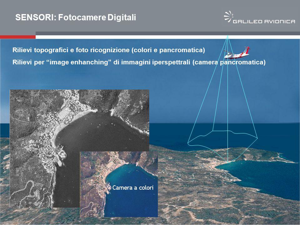 """7 Company Confidential SENSORI: Fotocamere Digitali Rilievi topografici e foto ricognizione (colori e pancromatica) Rilievi per """"image enhanching"""" di"""