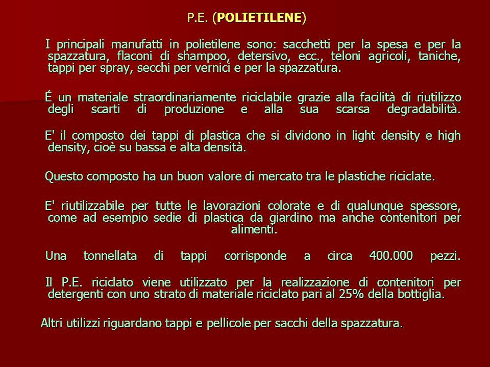 P.E.(POLIETILENE) P.E.