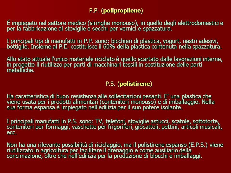 P.P.(polipropilene) P.P.