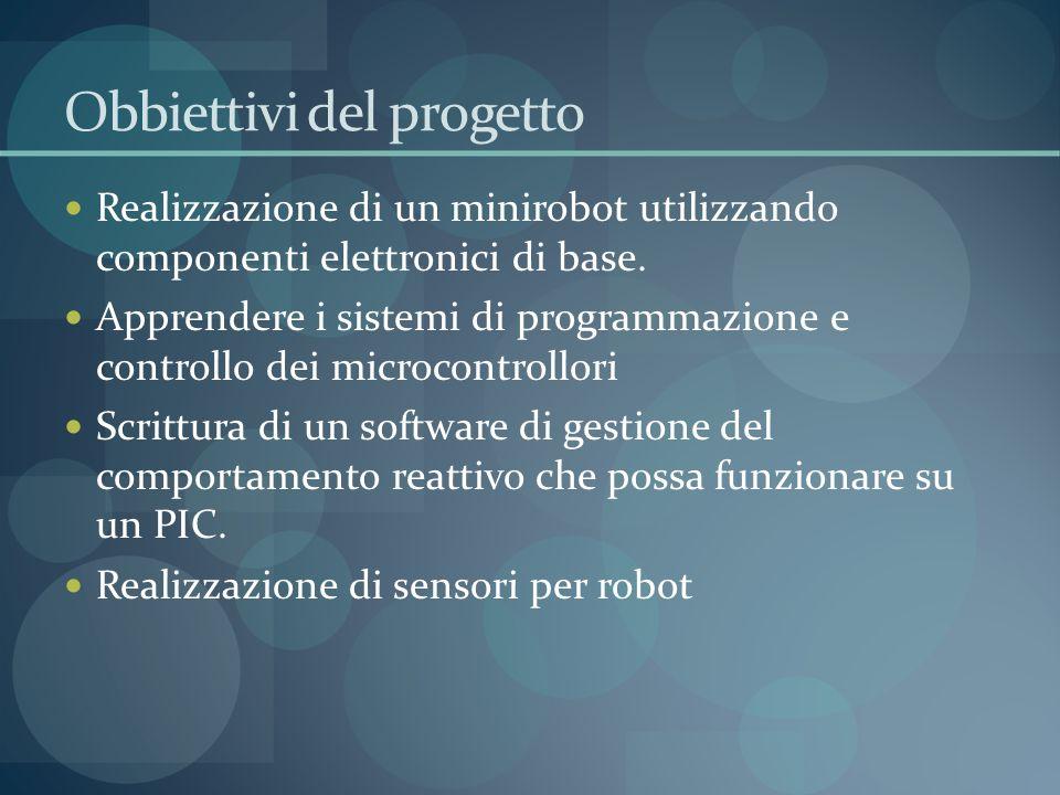 Obbiettivi del progetto Realizzazione di un minirobot utilizzando componenti elettronici di base.