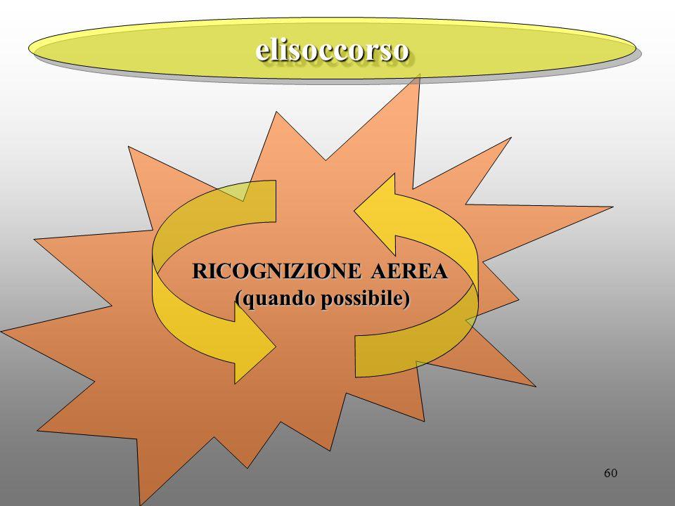 60 elisoccorsoelisoccorso RICOGNIZIONE AEREA (quando possibile)