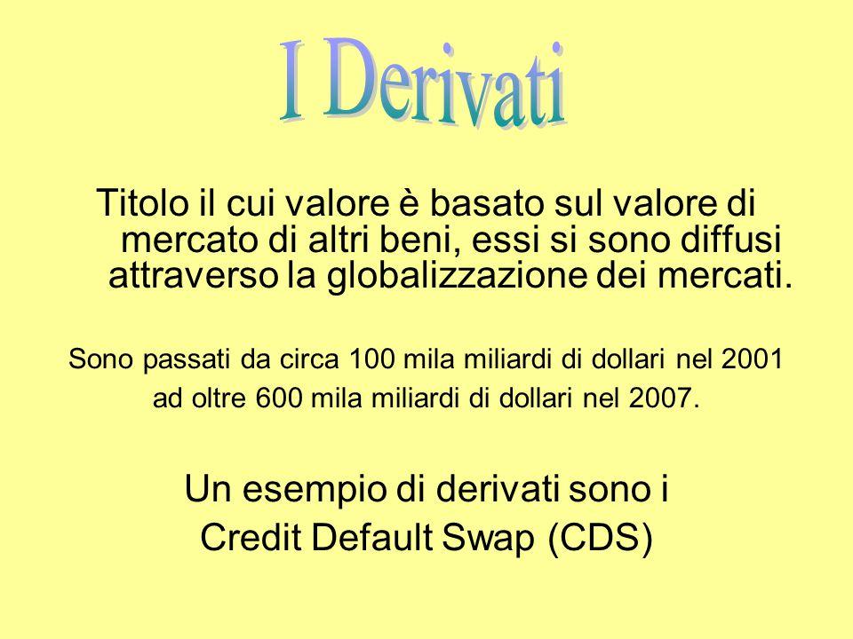 Titolo il cui valore è basato sul valore di mercato di altri beni, essi si sono diffusi attraverso la globalizzazione dei mercati.
