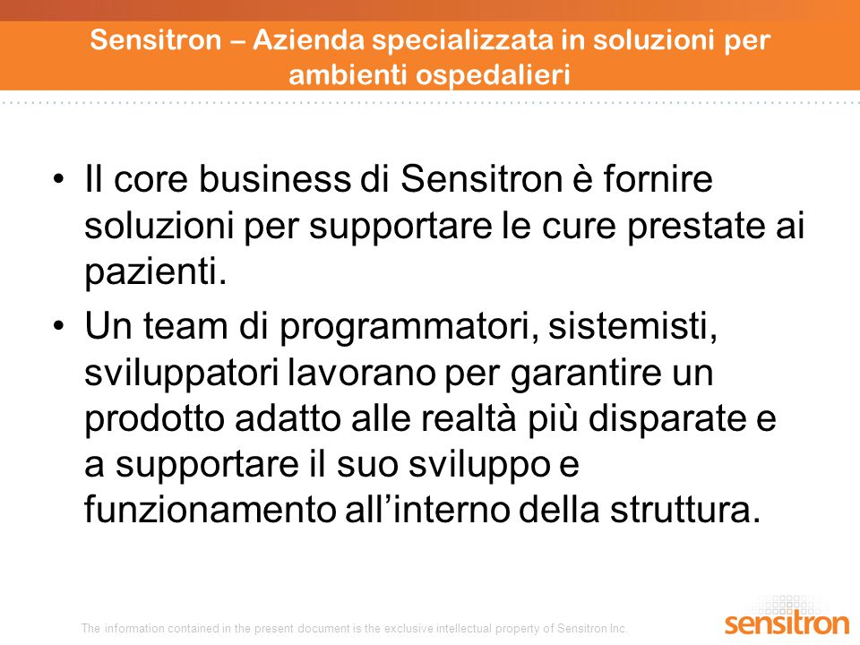 The information contained in the present document is the exclusive intellectual property of Sensitron Inc.
