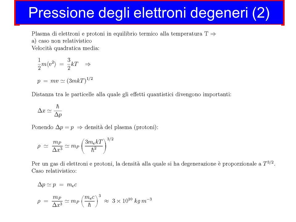 Pressione degli elettroni degeneri (2)