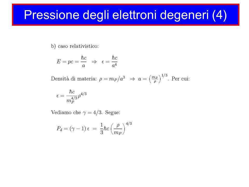 Pressione degli elettroni degeneri (4)